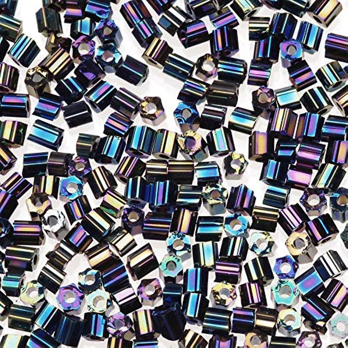Darice Glass Seed Black AB, 2-Cut, 20 Grams Beads