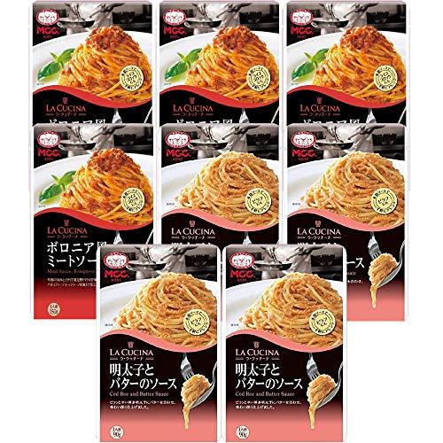 【セット商品】MCC パスタソース ミートソース4個&明太子とバターのソース4個 2種アソート