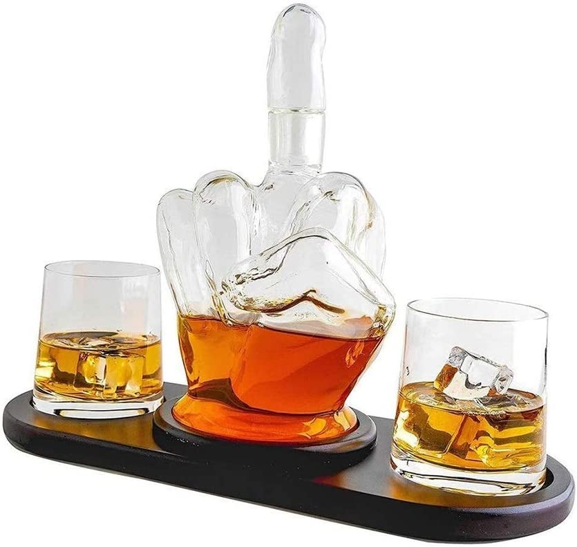 beautiful Whiskey Decanter Import Whisky SALENEW very popular Middle Finger Glasses