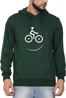 Swag Swami Unisex Cotton Cycling Smiley Printed Hoodie | Hooded Sweatshirt