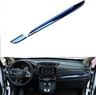 Beautost Fit for Honda 2017 2018 2019 CRV CR-V Center Console Dashboard Moulding Cover Trims (Blue)