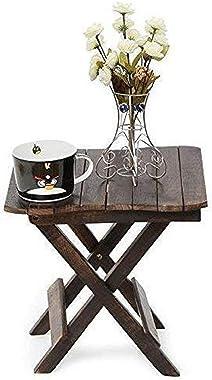 Wood City Handicrafts Wooden Work Fancy Designer Antique Folding Table (Wood,Antique,Brown)
