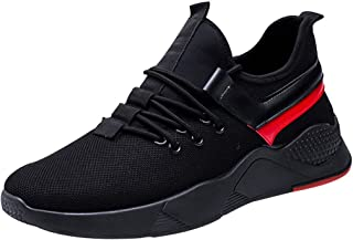 Men High Top Sneakers Non-slip, Male Lace up Mesh Breathable Sports Shoes Students Running Shoes