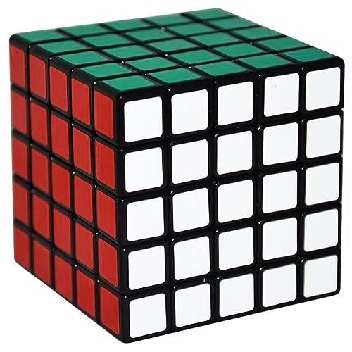 5x5 Puzzle Cube, LSMY Speed Cubes Toy Matte Sticker, Black