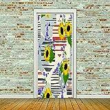 AUHOTA Pegatinas Vinilo Vintage Violeta Flores 83X204 Cm Vinilos Puerta Pegatina Pared Murales Para Cocina Sala De Baño Decorativos