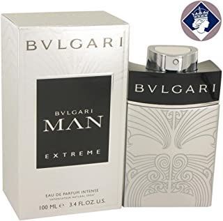 Bvlgari Man Extreme Eau de Toilette Spray for Men, 3.4 Fluid Ounce