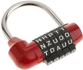 Gazechimp Letterslot combinatieslot combinatieslot hangslot, combinatieslot met 5 letters - rood