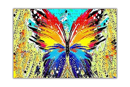 Abstrakcyjny kolorowy motyl plakat wydruki artystyczne zwierzęta obrazy ścienne rozmiar A3 (29,7 cm x 42 cm)