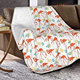 Manta de lana de cordero con diseño de pájaros, de piel de zorro plateada, ultrasuave, para sofá, cama, hombres, mujeres y bebés