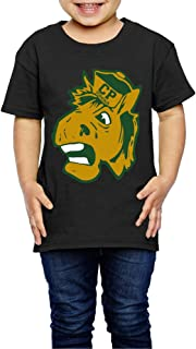 AK79 Children 2-6 Years Old Boys and Girls Cal Poly Horse Logo T Shirt Black