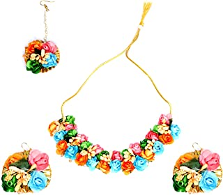 Confidence Artificial Flower Jewellery for Haldi/Baby Shower/Mehndi for Women And Girls