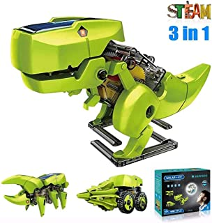 ASPPOPO STEM Projects for Kids Ages 8-12 Powerd by Solar 3 in 1 DIY Building Dinosaurs Toy Kids Science Kits Age 8 and up ...