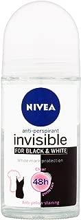 Nivea 50ml Invisible Black And White Clear Roll On Anti Perspirant Deodorant