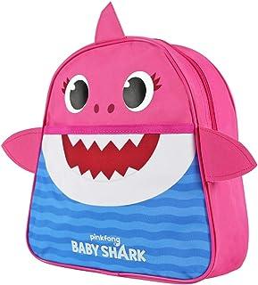 Baby Shark Mochila Infantil para Guarderìa - Mochila Niña y Niño Amarillo Azul Rosa para Jardìn de Infantes y Viajes - Mochilita Bolsa en Forma de Tiburòn Niños de 2-5 Años - 29x27x10 cm (Rosa)