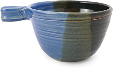 product image for American Made Stoneware Pottery French Onion Soup Bowl, 16-oz, Lakeside Blue