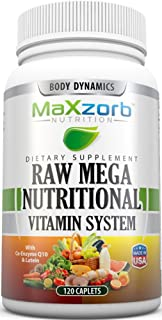 Body Dynamics Raw Mega Nutritional Vitamin System - 120 Caplets
