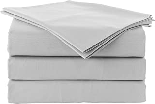 "Solid Pattern 550 Thread Count Rich Egyptian Cotton Quality 4-Pieces Luxurious Sheet Set Fits Mattress 10-12"" Inch Deep Po..."