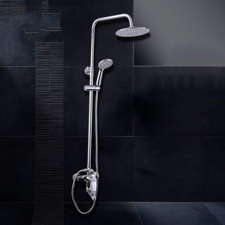 LHW Shower Set chset, Duschraum Dusche, Voll-Kupfer Dreifach Shift, Handbrause mit Wasser, Lift Wanddusche