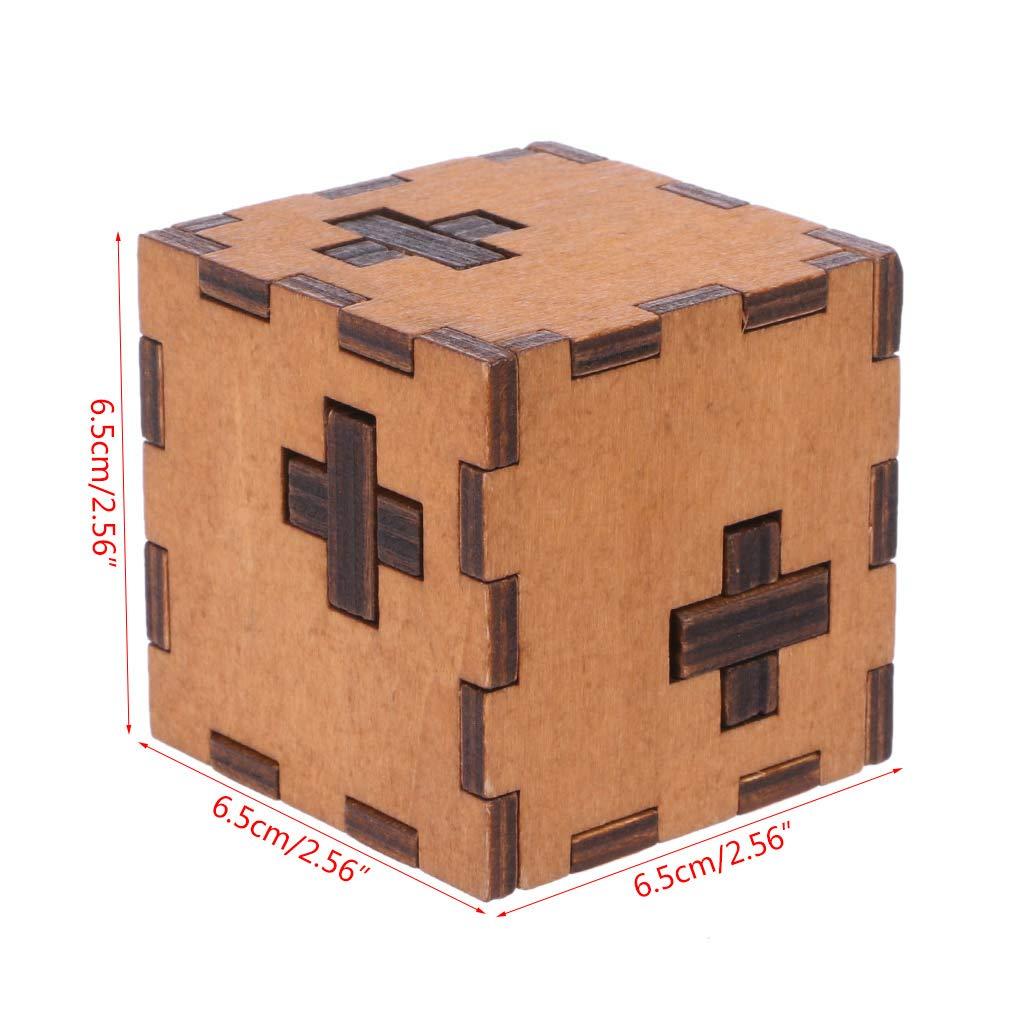 Dabixx Rompecabezas de Juguete, Suiza Cubo Caja de Madera Secreta de Rompecabezas Juguete de Madera Cazador para niños Juguete para niños: Amazon.es: Hogar