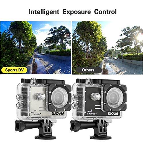Original Sj5000 Plus Sj5000+ Ambarella A7LS75 1080P 60FPS SJCAM WiFi cámara del coche de HD Action Sports Waterproof Cam DV Camcorder deportiva action impermeable cámara d(Negro)