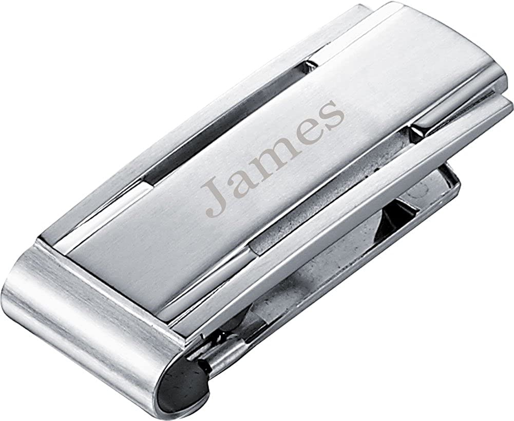 Personalized Visol Bryon Stainless Steel Engravable Money Clip with free engraving
