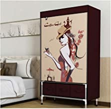 Portable Wardrobe Simple Wardrobe with Drawer Storage Furniture Wardrobe Fold Portable Storage Cabinet Bedroom Clothing St...