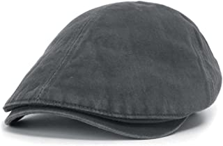 ililily Washed Cotton Flat Cap Cabbie Hat Gatsby Ivy Irish Hunting Newsboy  Stretch Big Hat f4f665a9b63a