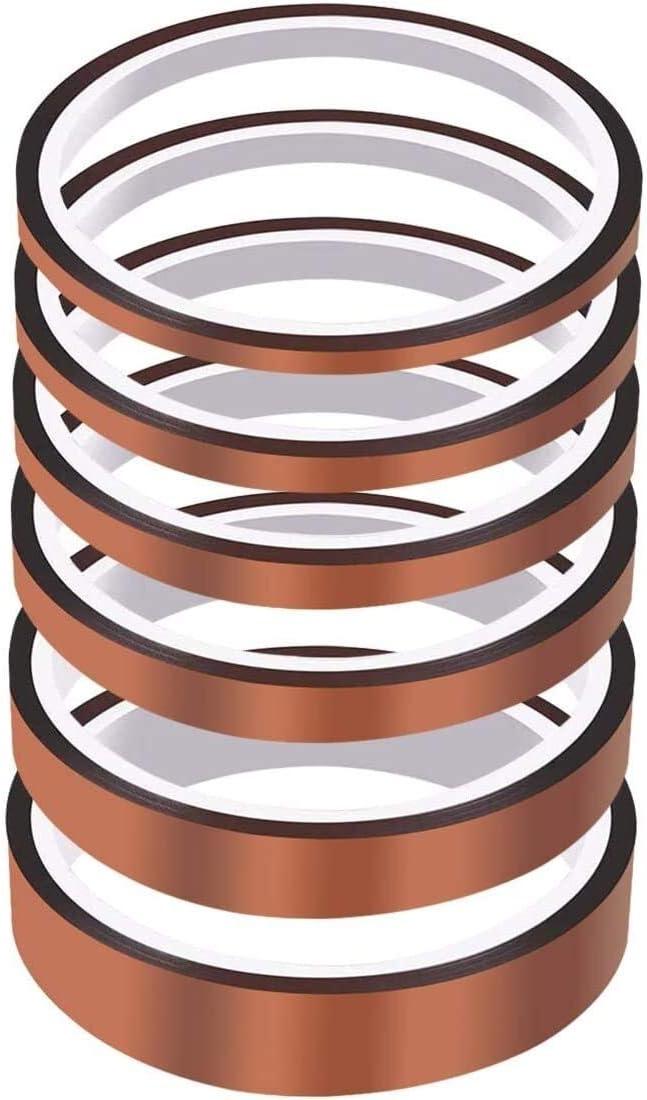 6pcs Copper Foil Tape Dual 現金特価 期間限定送料無料 Tapes Temp Conductive Roll High