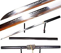 Lyuesword Japanese Samurai Sword Martial Arts Ninja Weapon Carbon Steel Ninja Sword Clay Tempered Sword