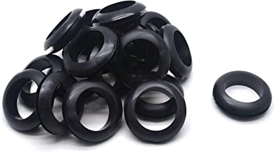 Antrader 20-Pack 25mm Inner Dia Round Rubber Grommet Double-Sided Sealed O-Ring Electrical Wire Outlet Loop Protector