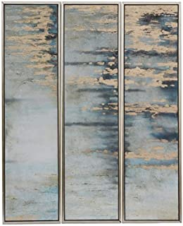 Crestview Collection CVBZWF060 Set of 3 Abstract Oil Painting Wall Décor