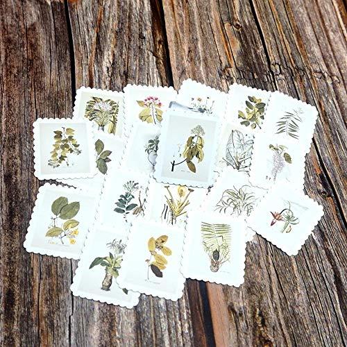 PMSMT 22 Piezas DIY Estudiantes Pegatinas Impermeables Diario álbum decoración Pegatina Autoadhesivo Planta Verde Pegatinas para niños niñas niños Juguete