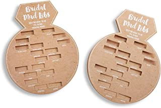 Kate Aspen 28441NA Bridal Shower Card/Ring Shaped Mad Libs (Set of 50) Party Game, kraft, white