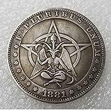 YunBest Mejores dólares estadounidenses Morgan - Moneda de níquel Hobo -1881 Recolección de Monedas-Dólar...