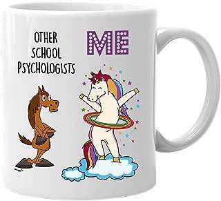 School Psychologist Mug Funny Unicorn Gifts for Women Men Mom Dad- Best Appreciation Thank You Retirement Christmas Birthday Gag Coffee Hula Hoop Tea Cup 11 oz or Large 15 oz Whizk MUC1135