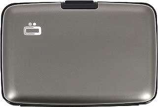 Ogon Stockholm ID & Card Case Aluminium Wallet for Men & Women | Rfid Safe (Titanium)