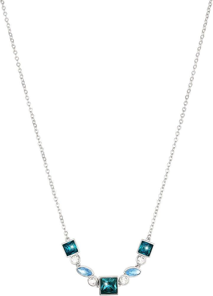 Stroili, collana per donna,in metallo rodiato e pietre. 1665809