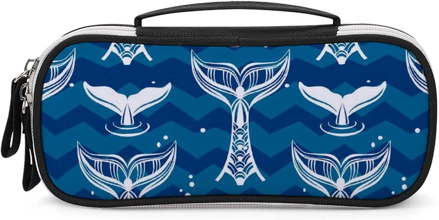 The Tails of Whales Women's Japan's largest assortment Small Max 80% OFF Ma Zip Travel HandBag Cosmetic