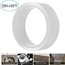 TYLife Caulk Strip,Washable Adhesive Caulk Tape Self Waterproof Repair Tape for Bathtub Bathroom Kitchen Sink Basin Edge Shower Toilet Kitchen and Wall Mildew Sealing(2Inch Width x 10Feet Length)