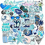 ZZHH Blue Stickers Pack Waterproof Sticker DIY for Girl Things on Laptop Fridge Phone Skateboard Suitcase 50 Pcs
