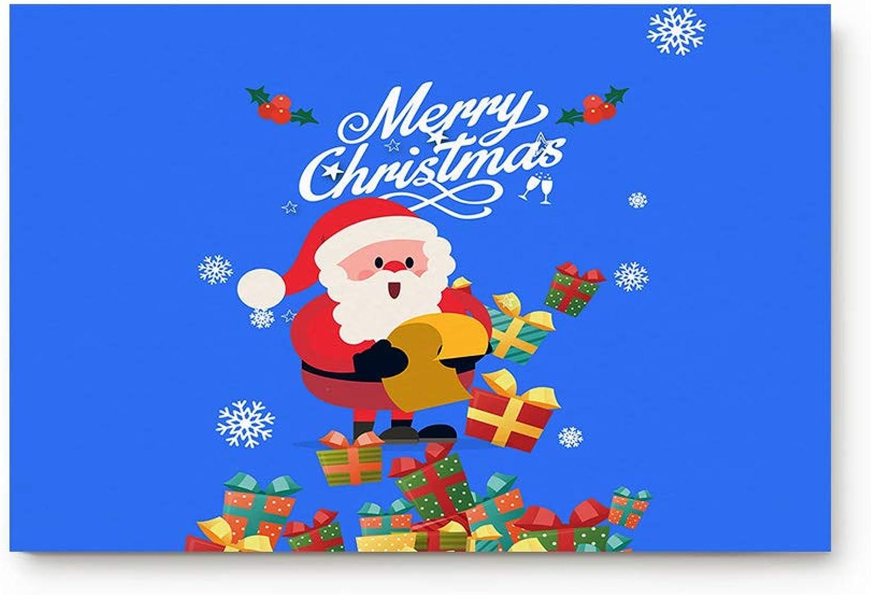 Prironde Doormat Indoor Welcome Mat Santa Claus Gift List Snowflake Floor Mat Rug Non Slip Office Bedroom Front Door Bathroom Mats 20x31.5inch Entrance Mat Entrance Mat