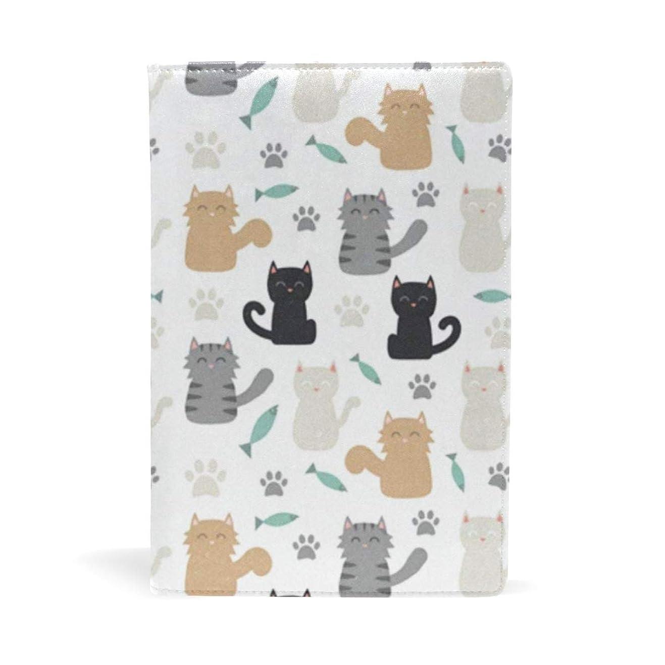 カセット矩形しがみつくブックカバー 文庫 a5 皮革 レザー かわいい 猫柄 文庫本カバー ファイル 資料 収納入れ オフィス用品 読書 雑貨 プレゼント