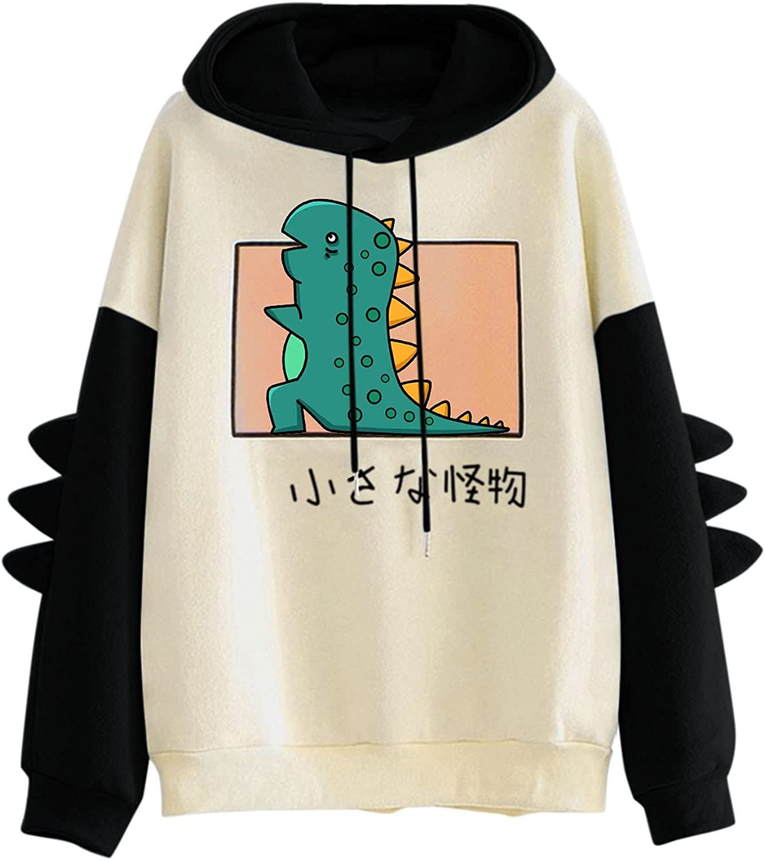 INESVER Womens Cute Sweatshirt Casual Loose Hoodie Pullovers Splice Long Sleeve Tee Shirt Fashion Pullover Sweaters