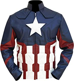 Civil War America Steve Rogers Captain Star Jacket