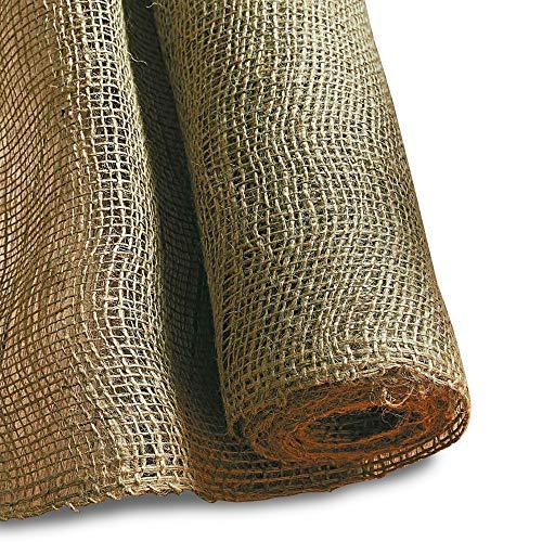 Noor Jute-Zuschnitt leicht 0,9 x 10 m I Jute-Rolle zum Adventskalender selber basteln, als Deko-Material oder als Frostschutz für Pflanzen I Jute-Winterschutz für Topf- und Kübelpflanzen I Natur
