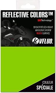 VFLUO 3M REFLECTIVE COLORS. Universal adhesive DIY kit for Helmet/Motorbike/Scooter/Bike. 3M Technology. 10 x 15 cm sheet. Kawazaki green
