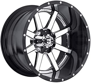 "D260 Maverick 24x12 8x6.5/8x165.1-44 Chrome Black Lip Wheels(4) 24"" inch R"