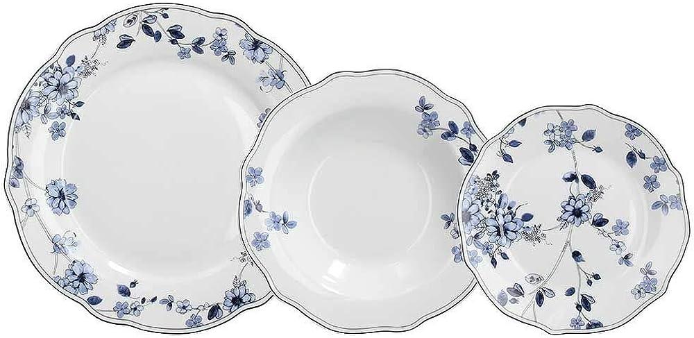 Tognana, servizio di piatti da tavola in porcellana , 18 pezzi
