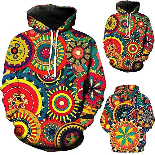 Sumeiwilly Herren 3D Hoodies Männer Kapuzenpullover Herbst Sweatshirt Unisex Langarm Pullover Neuheit Jacken Männlich Trainingsanzug Mantel Mehrfarbig, M-5XL
