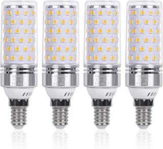 SanGlory Bombillas LED E14 12W equivalente a 100W Incandescente Bombilla, 1350 lúmenes, 3000K Blanco Cálido Edison E14 LED Maíz Bombillas, No regulable, Ángulo 360° - Caja de 4 unidades